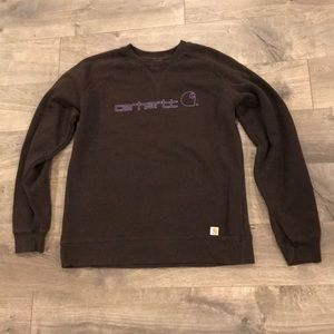 Carhartt Sweatshirt Size Medium Brown